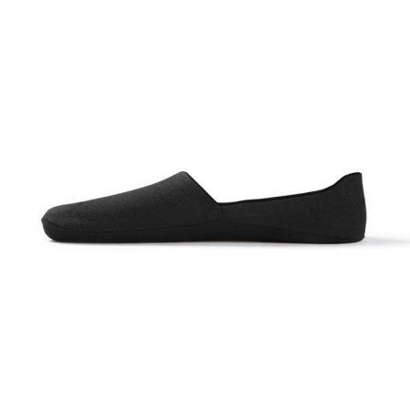 Anti-slip boat sock custom no-show socks men-black