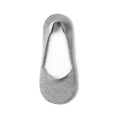 Anti-slip boat sock custom no-show socks men-grey-upper view