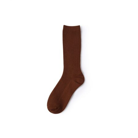 Basic socks private label dress socks women-red wine