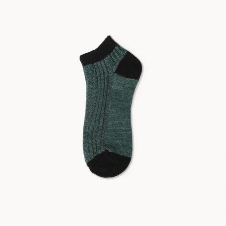Basic stripe socks custom ankle socks-deep grey