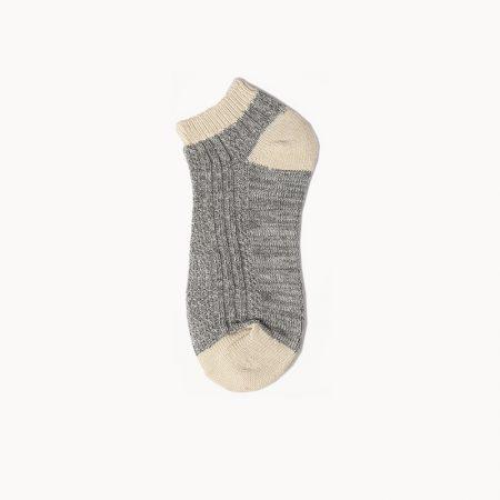 Basic stripe socks custom ankle socks-grey