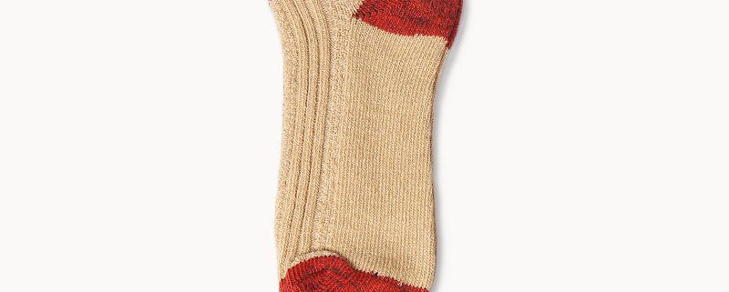 Basic stripe socks custom ankle socks-red