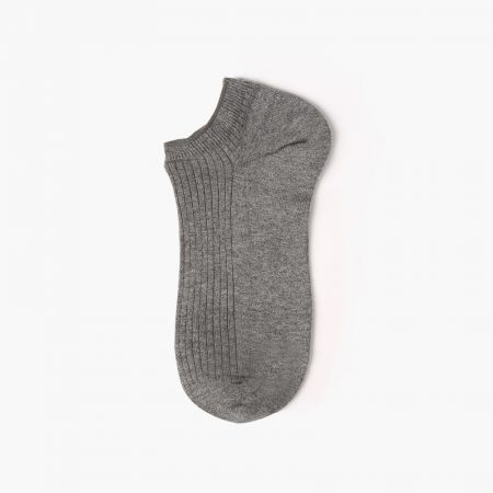 Basic style pure custom ankle socks men-grey