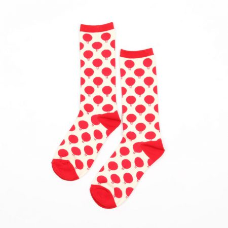 Carton fancy custom knee-high socks unisex-balloon