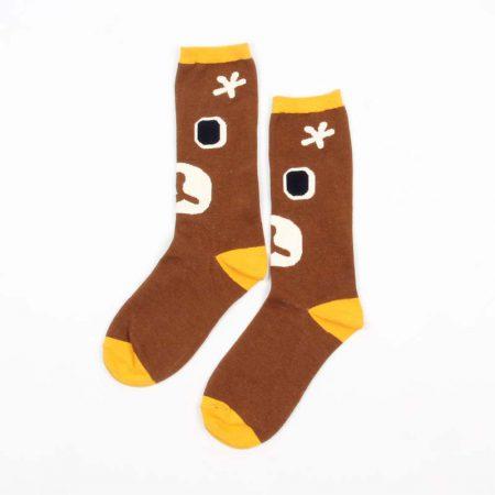 Carton fancy custom knee-high socks unisex-bear