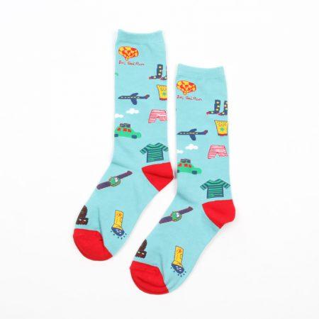 Carton fancy custom knee-high socks unisex-daily travel