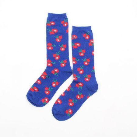 Carton fancy custom knee-high socks unisex-gourd
