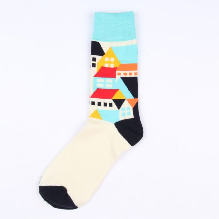 Carton field private label knee-high socks -houses