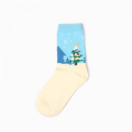 Christmas premium-quality custom crew socks girls-Christmas tree