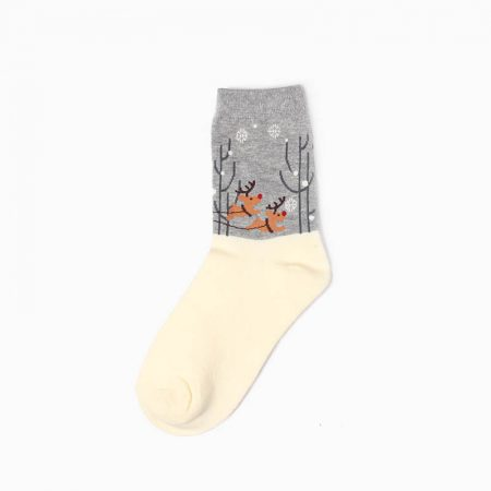 Christmas premium-quality custom crew socks girls-deer