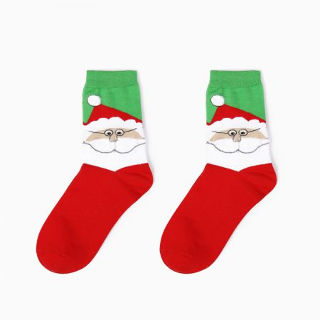 Christmas season custom crew socks snowman