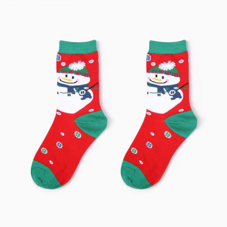 Christmas season custom crew socks snowman-big