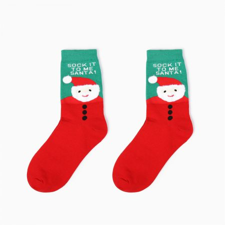 Christmas season custom crew socks snowman-cute