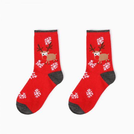 Christmas season custom crew socks snowman-deer
