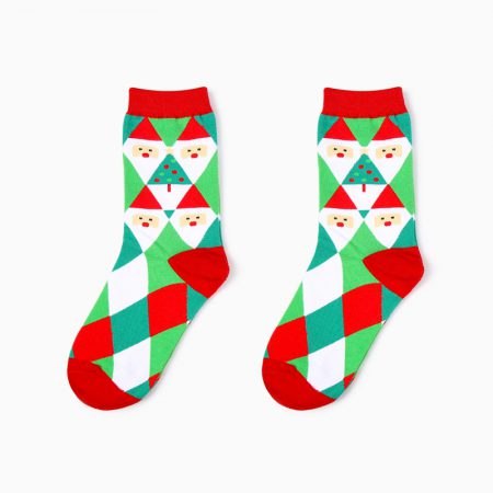 Christmas season custom crew socks snowman-diamond