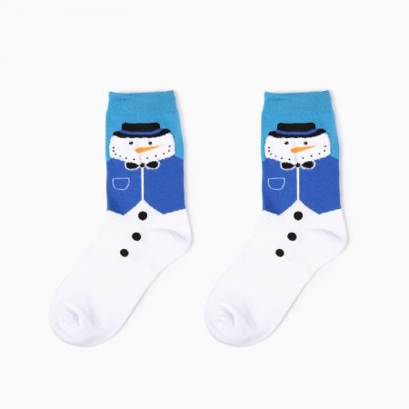 Christmas season custom crew socks snowman-handsome