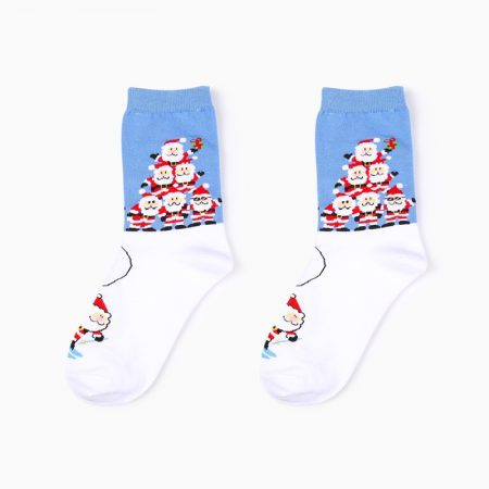 Christmas season custom crew socks snowman-together