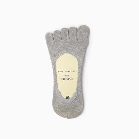 Classical toe socks custom no-show socks unisex-invisible-grey light