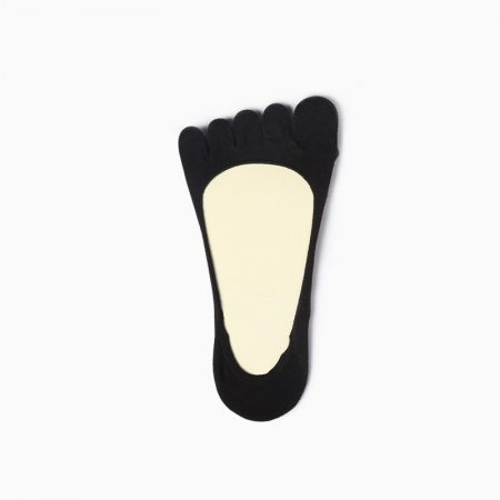 Classical toe socks custom no-show socks unisex-invisible-light black