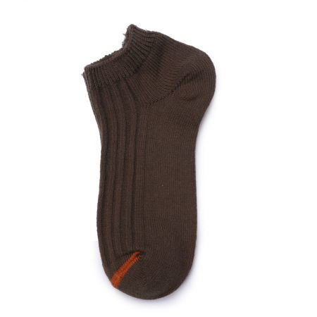 Custom ankle socks solid color socks girls-brown