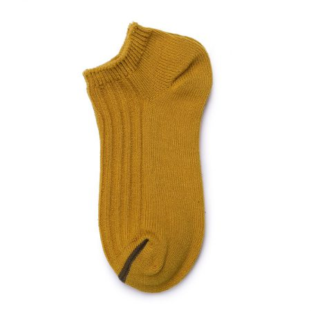 Custom ankle socks solid color socks girls-yellow