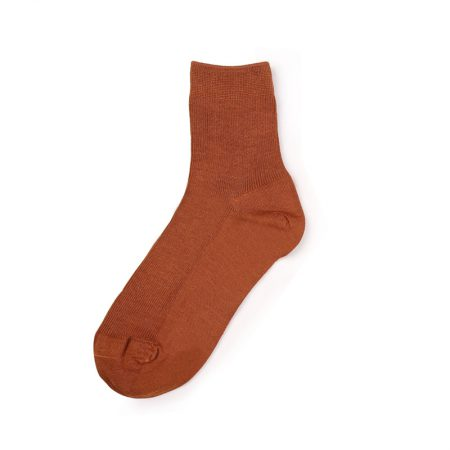Custom crew socks bamboo fiber solid color basic socks-light red