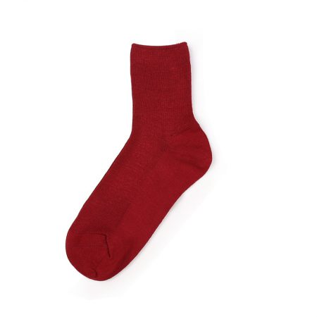 Custom crew socks bamboo fiber solid color basic socks-red