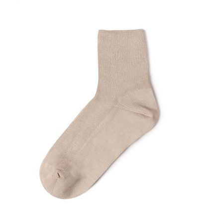 Custom crew socks bamboo fiber solid color basic socks-straw