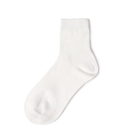 Custom crew socks bamboo fiber solid color basic socks-white