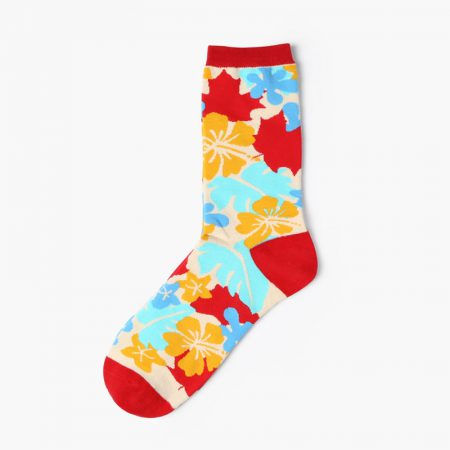 Custom dress socks colorful england style elements-flowers pattern