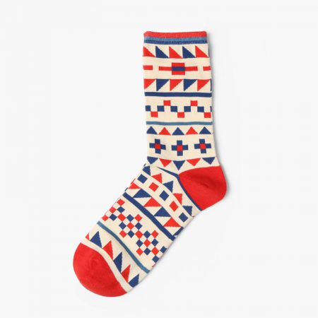 Custom dress socks colorful england style elements-geometry pattern