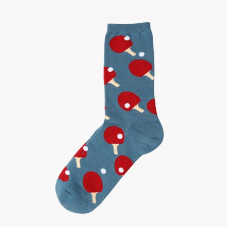 Custom dress socks colorful england style elements-table tennis