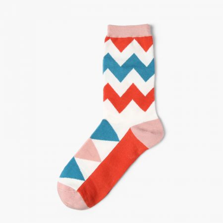 Custom dress socks colorful england style elements-triangles pattern