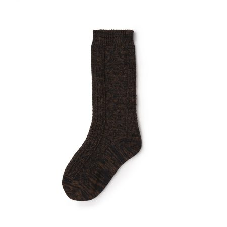 Custom knee-high socks solid color basic socks-brown
