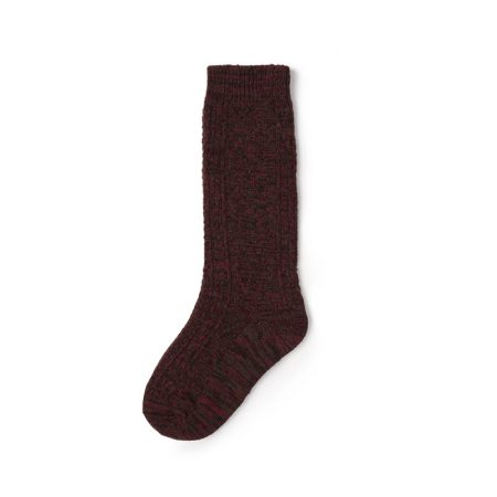 Custom knee-high socks solid color basic socks-light wine color