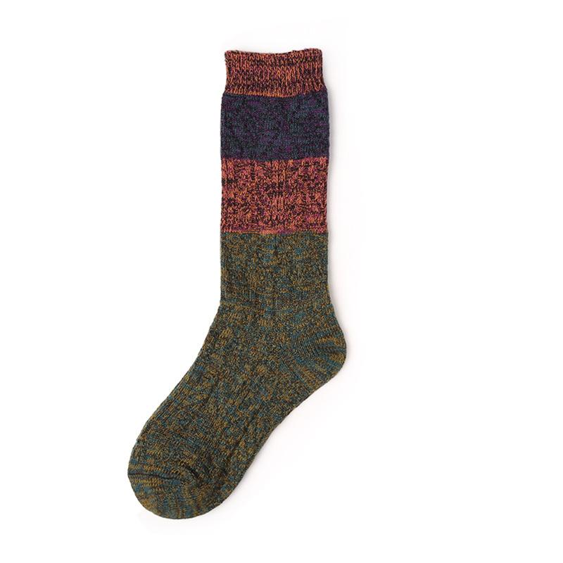4a4e073dd Custom knee-high socks women thick yarn knitted - MeetSocks