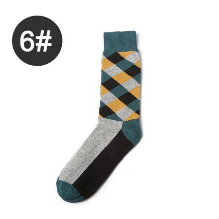 Diamond england style custom knee-high socks-greeen-brown