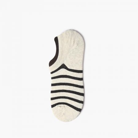 Elegant classical invisible custom no-show socks-black