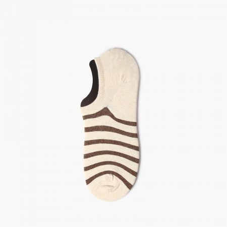 Elegant classical invisible custom no-show socks-brown