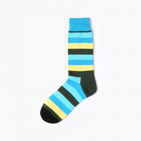England style colorful custom dress socks classical-blue yellow