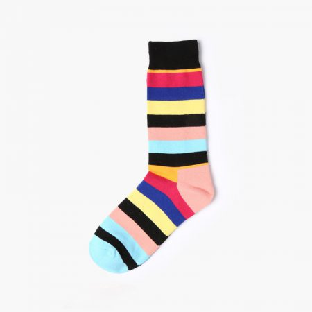 England style colorful custom dress socks classical-red yellow black