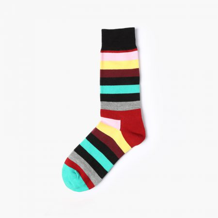 England style colorful custom dress socks classical-yellow-red