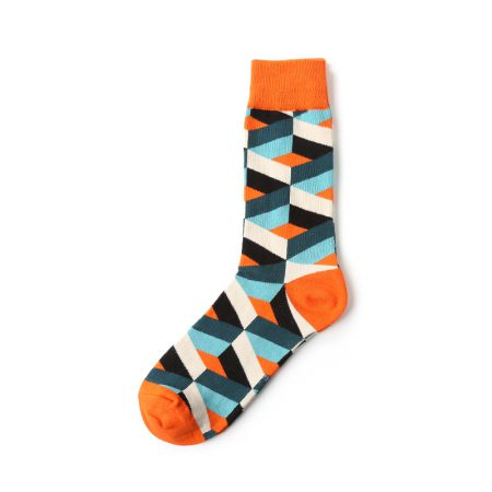 Geometry designs private label dress socks men-triangles