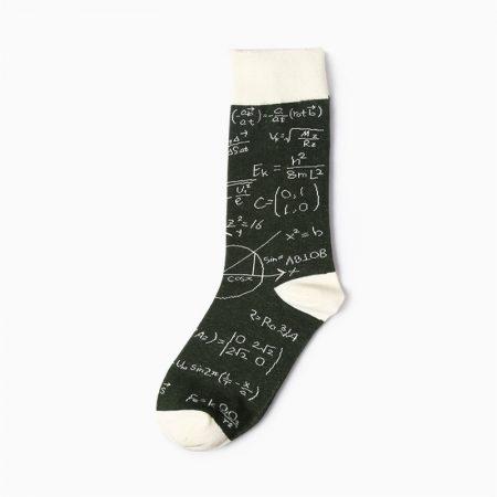 High-School custom dress socks carton elements-blackboard