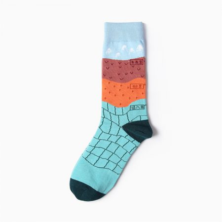 High-School custom dress socks carton elements-geography