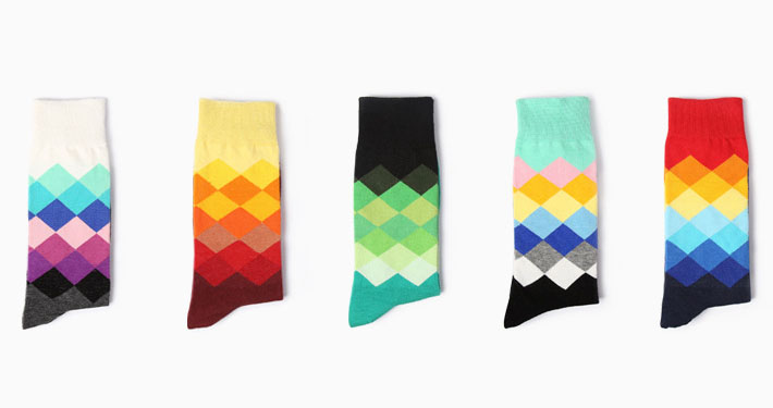 Private label colorful custom knee-high socks