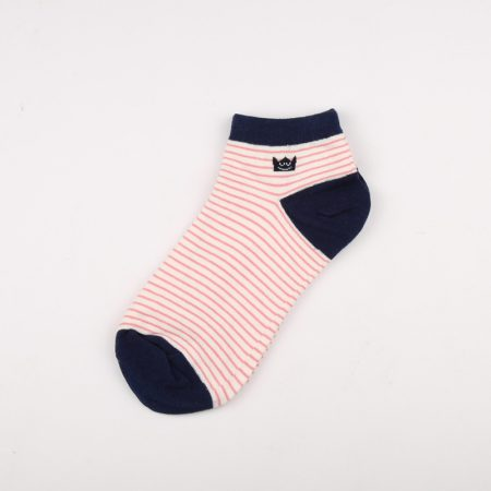 Private label crew socks girls basic socks thick yarn-black
