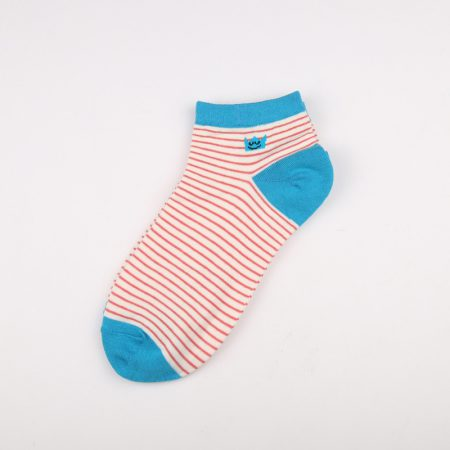 Private label crew socks girls basic socks thick yarn-blue