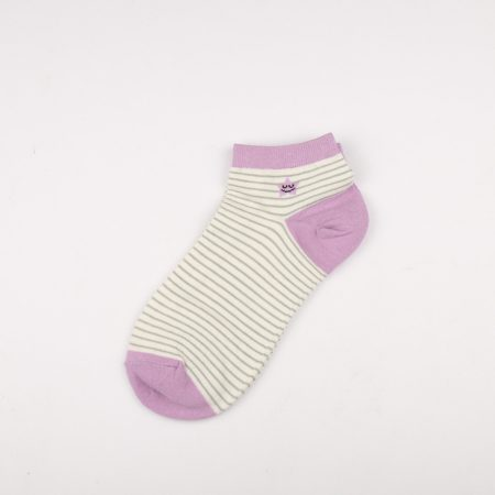 Private label crew socks girls basic socks thick yarn-pink