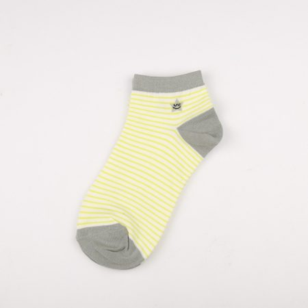 Private label crew socks girls basic socks thick yarn-yellow